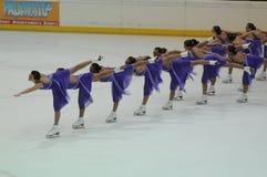 Het schaatsen van het ijs van het Team van Miami de Universitaire Kop 2011 van de Lente Stock Foto