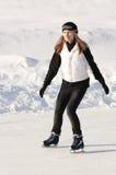 Het schaatsen van het meisje Royalty-vrije Stock Foto