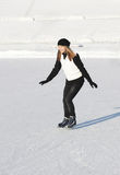 Het schaatsen van het meisje Stock Foto