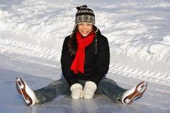 Het schaatsende meisje van het ijs Stock Fotografie
