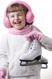 Het schaatsende meisje van het ijs Stock Foto