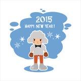 Het schapen nieuwe jaar, een grote druk Stock Afbeelding