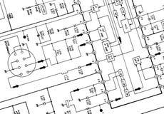 Het schema van de elektronika stock afbeeldingen