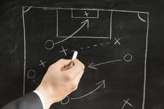 Het schema van de voetbalstrategie stock afbeelding