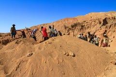 Het scheppen van mijnwerkers Royalty-vrije Stock Fotografie