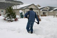 Het scheppen van sneeuw Royalty-vrije Stock Foto's