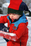 Het scheppen van sneeuw stock foto