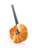 Het scheren van het potlood Stock Afbeeldingen