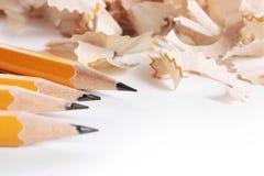 Het scheren van potloden Stock Foto