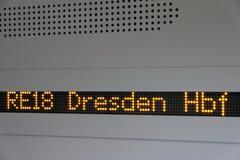 Het scherm in de trein royalty-vrije stock afbeeldingen