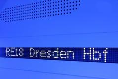 Het scherm in de trein stock afbeelding