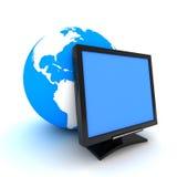 Het scherm en aarde stock illustratie