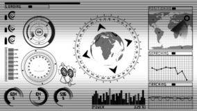 Het scherm GUI van de animatietechnologie royalty-vrije illustratie