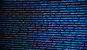 Het scherm met de code van de softwareontwikkelaar Royalty-vrije Stock Fotografie