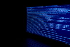 Het scherm met de code van de softwareontwikkelaar Stock Foto