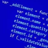 Het scherm met de programmering van code Royalty-vrije Stock Afbeelding