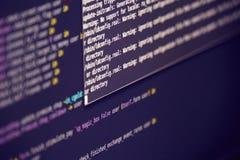 Het scherm met werkprogramma stock afbeeldingen