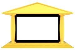 Het scherm van de bioskoop Stock Afbeeldingen