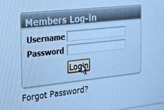 Het scherm van de computer Royalty-vrije Stock Foto's