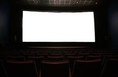 Het scherm van de film in donkere bioskoop Stock Afbeelding