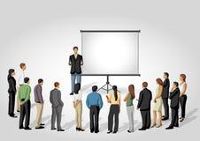 Het scherm van de presentatie. stock illustratie