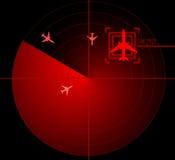 Het scherm van de radar Stock Afbeelding