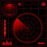 Het scherm van de radar Stock Foto