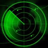 Het Scherm van de radar Royalty-vrije Stock Afbeelding