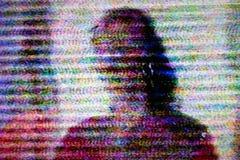 Het scherm van de televisie met statisch lawaai royalty-vrije stock afbeeldingen