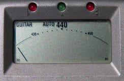 Het Scherm van de Tuner van de gitaar Stock Foto
