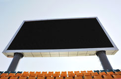 Het scherm van de vertoning bij modern stadion royalty-vrije stock foto's