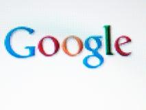 Het scherm van Google Stock Foto