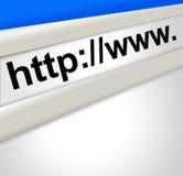 Het Scherm van het Adres van Internet vector illustratie
