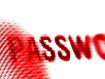 Het scherm van het wachtwoord stock foto's