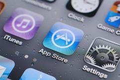Het scherm van IPhone 4s Stock Foto
