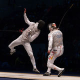 Het Schermen van de wereld Kampioenschap 2006; Baldini-Joppich Stock Afbeeldingen