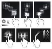 Het schermgebaar van de aanraking, interface Royalty-vrije Stock Foto's