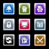 Het schermreeks 7 van de kleur Stock Foto's