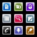 Het schermreeks 8 van de kleur Stock Foto's