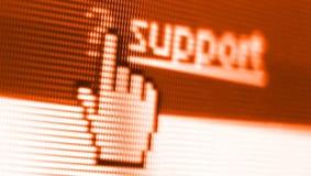 Het schermschot van de steun Stock Foto