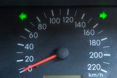 Het schermvertoning van de waarschuwingslicht van de autostatus op dashboardpaneel sy stock afbeelding
