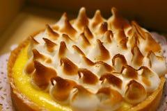 Het Scherpe Dessert van citroenmarigne Stock Foto