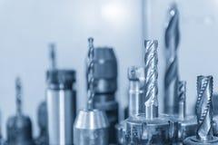Het scherpe hulpmiddel voor CNC het machinaal bewerken Stock Foto