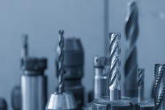 Het scherpe hulpmiddel voor het CNC machinaal bewerkende centrum Stock Afbeelding