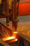 Het scherpe staal van de machine Stock Foto