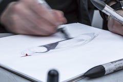 Het schetsen - Detail stock afbeeldingen