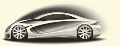 Het schetsen van de auto Stock Foto