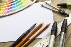 Het schetsen van Hulpmiddelen Stock Fotografie