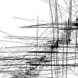 Het schetsmatige beeld van de lijnenkunst Patroon met willekeurig gekrabbel/schetsmatig stock illustratie