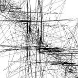 Het schetsmatige beeld van de lijnenkunst Patroon met willekeurig gekrabbel/schetsmatig vector illustratie